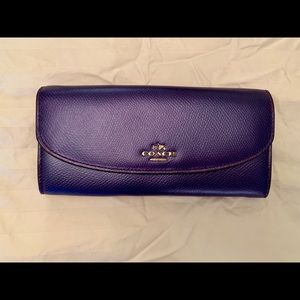 Coach Wallet Metallic Crossgrain Leather
